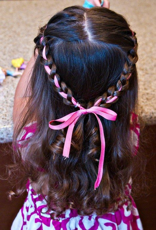 17 Adorable Hairstyles Your Toddler Girl Will Love Hair Styles Girl Hair Dos Ribbon Hairstyle