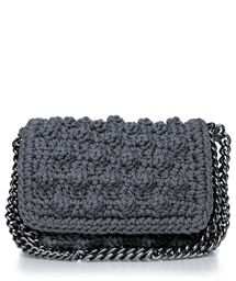 8ac6c4b5fe4 ONE & ONLY Anthracite Bubble Double Chain Crochet Bag < ΤΣΑΝΤΕΣ ΩΜΟΥ ...