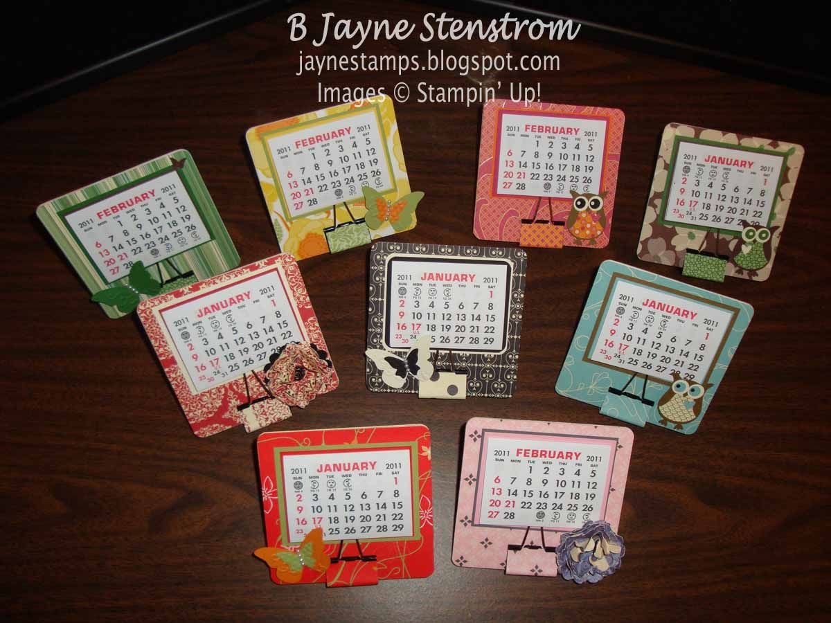Single Coaster Calendars Calendar Craft Mini Calendars