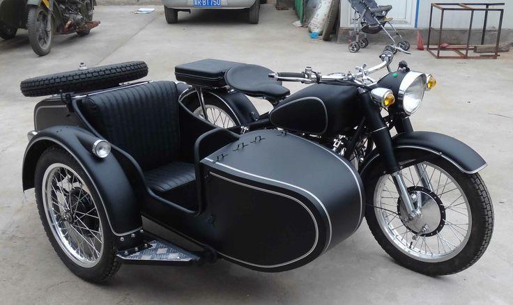 Sidecar Dream Motorcycle Matte Black S Izobrazheniyami Kolyaska