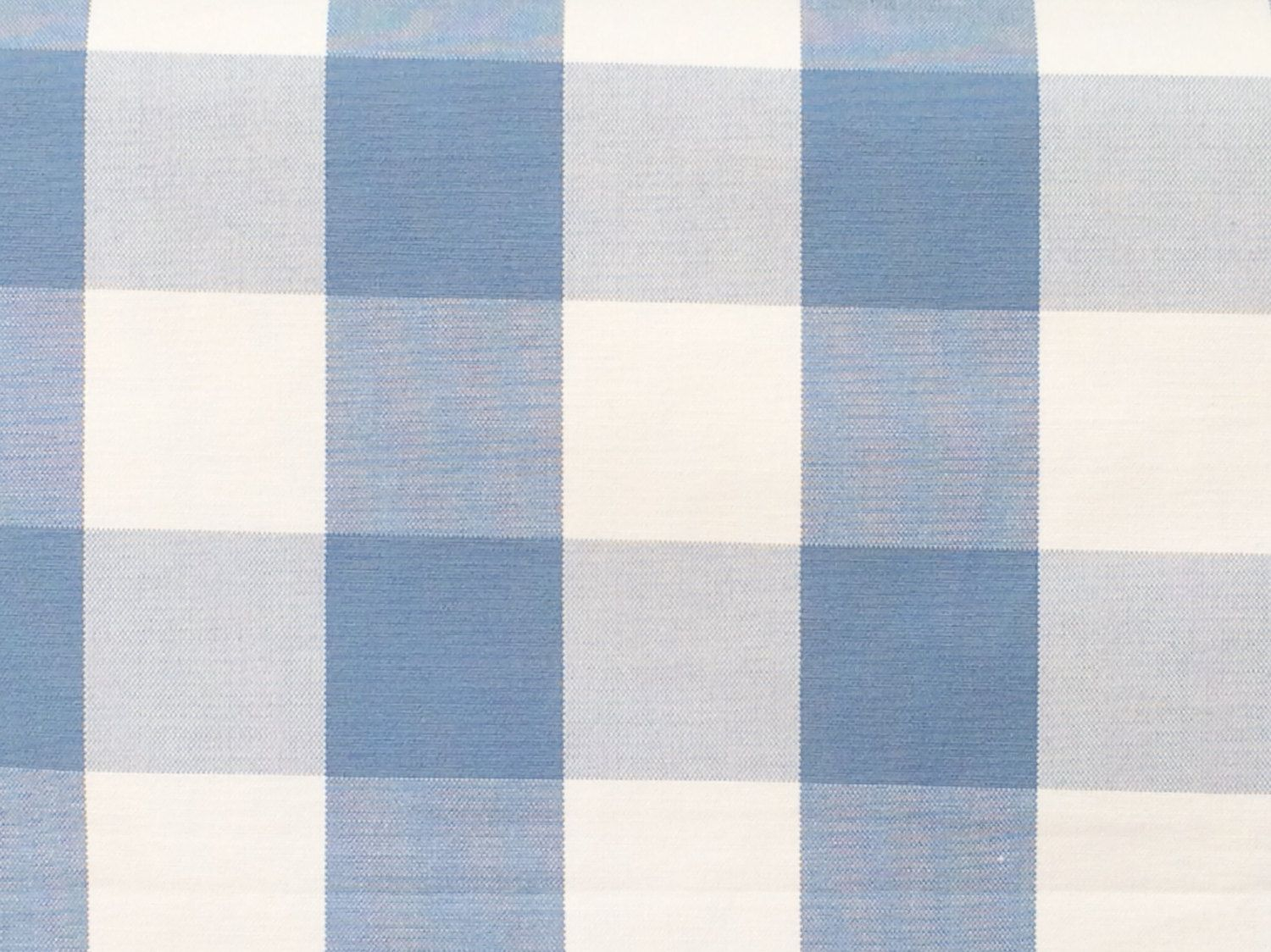 Dark Pastel Blue And White Gingham Checks Cotton Fabric By The Yard Upholstery FabricDrapery FabricShower Curtain FabricWholesale