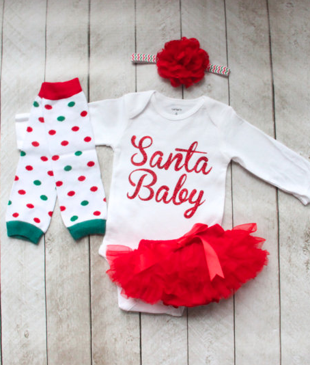 a838c2766 darling Santa Baby outfit | Gift Ideas for Babies and Toddlers ...