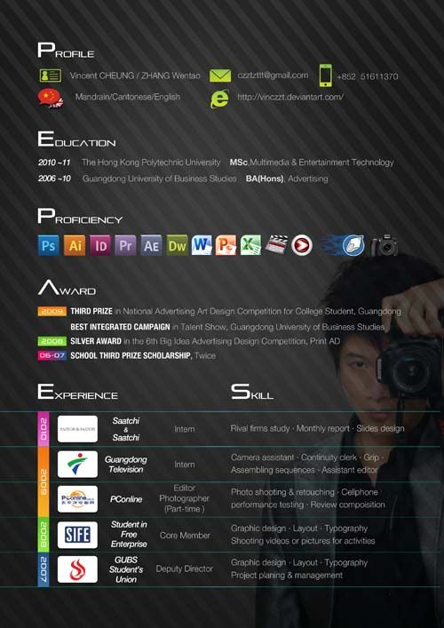 60 more fresh artistic and unusual resume designs for your inspiration - Resume Designer