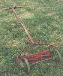 Old Lawn Mower Garden Lawn Victory Garden