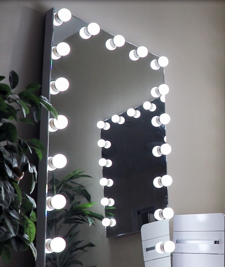 Starlet Hollywood Led Full Length Floor Mirror Hollywood Makeup Mirror Salon Mirrors Salon Makeup Station