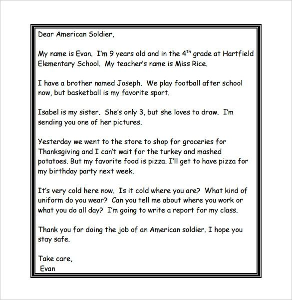 write to a soldier for free
