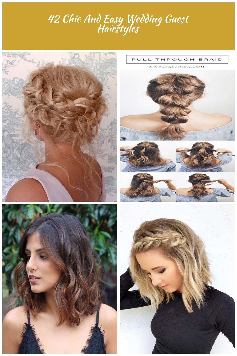 36 Chic And Easy Wedding Guest Hairstyles Wedding Guest