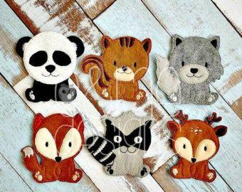 50% OFF - woodland Animal Finger Puppet Set Embroidery Design