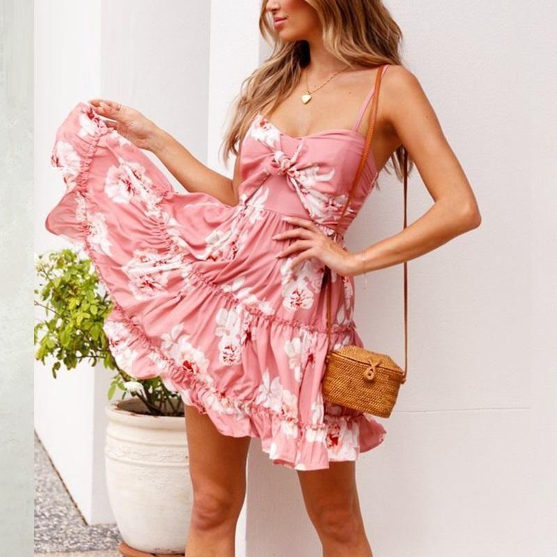 cbbb53d154f Ruffled Girl Spaghetti Strap Boho Summer Beach Dress – Slim Wallet Company  Flower Dresses