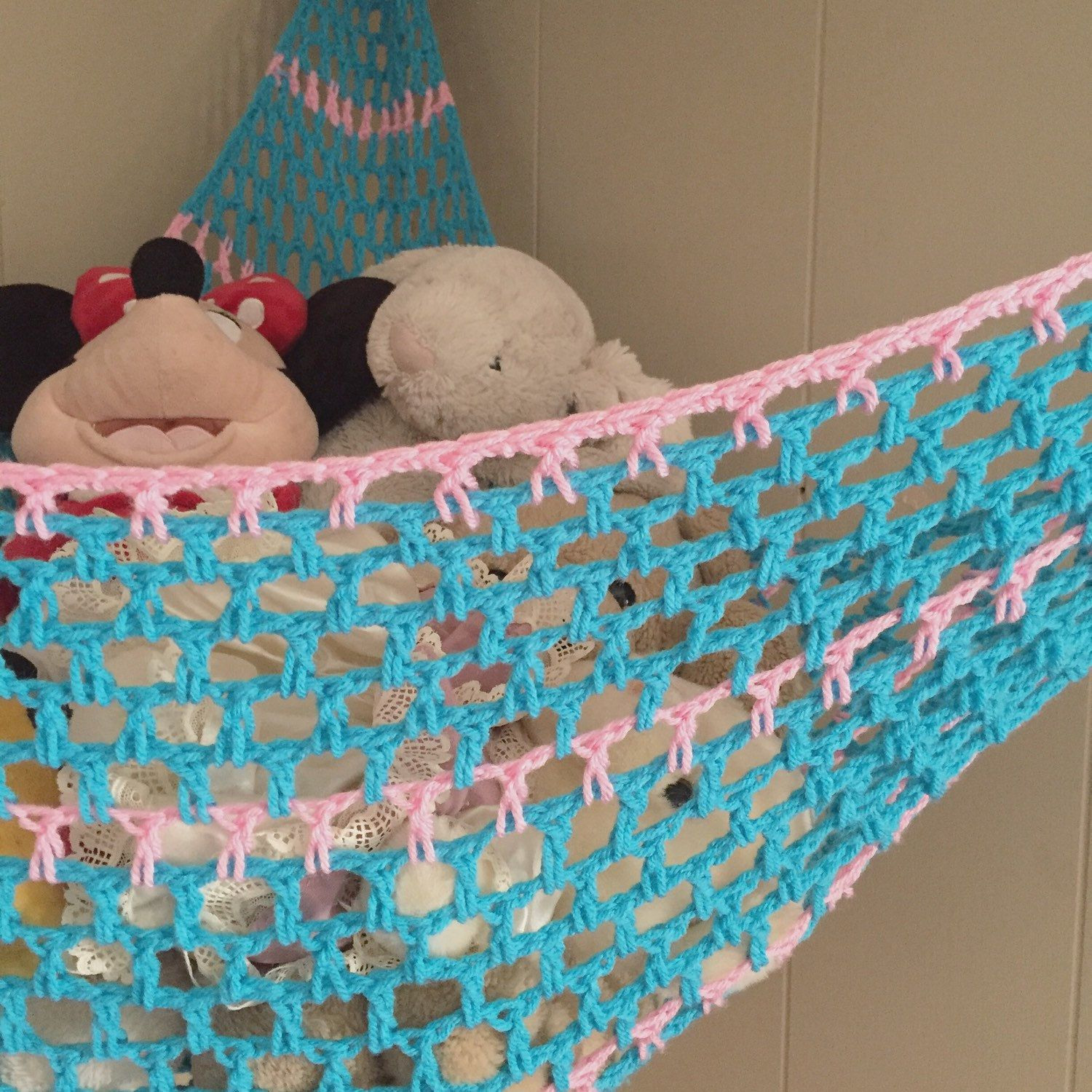 ravelry  stuffed animal storage hammock by erin fuentes this beautiful two color custom hammock is almost finished  just      rh   pinterest co uk