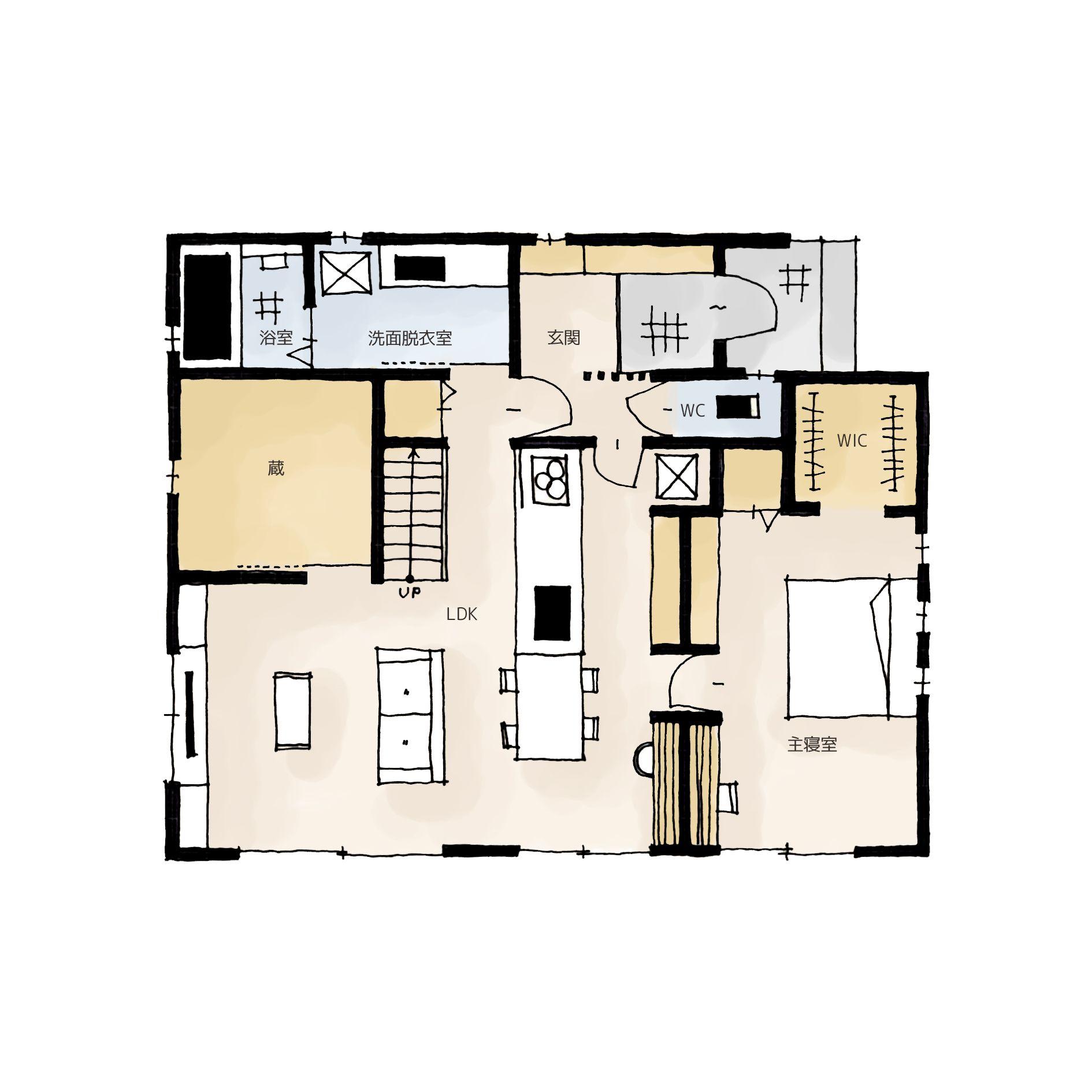 スペースを有効活用 蔵のある家の間取り 画像あり 間取り 蔵の