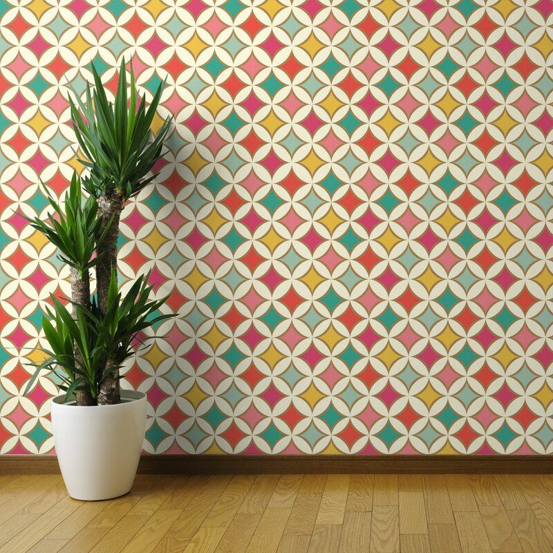 Haan Mid Century Mod Removable Peel and Stick Wallpaper