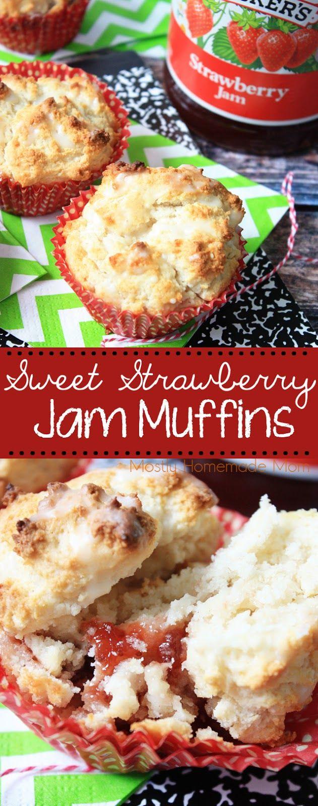 Sweet Strawberry Jam Muffins