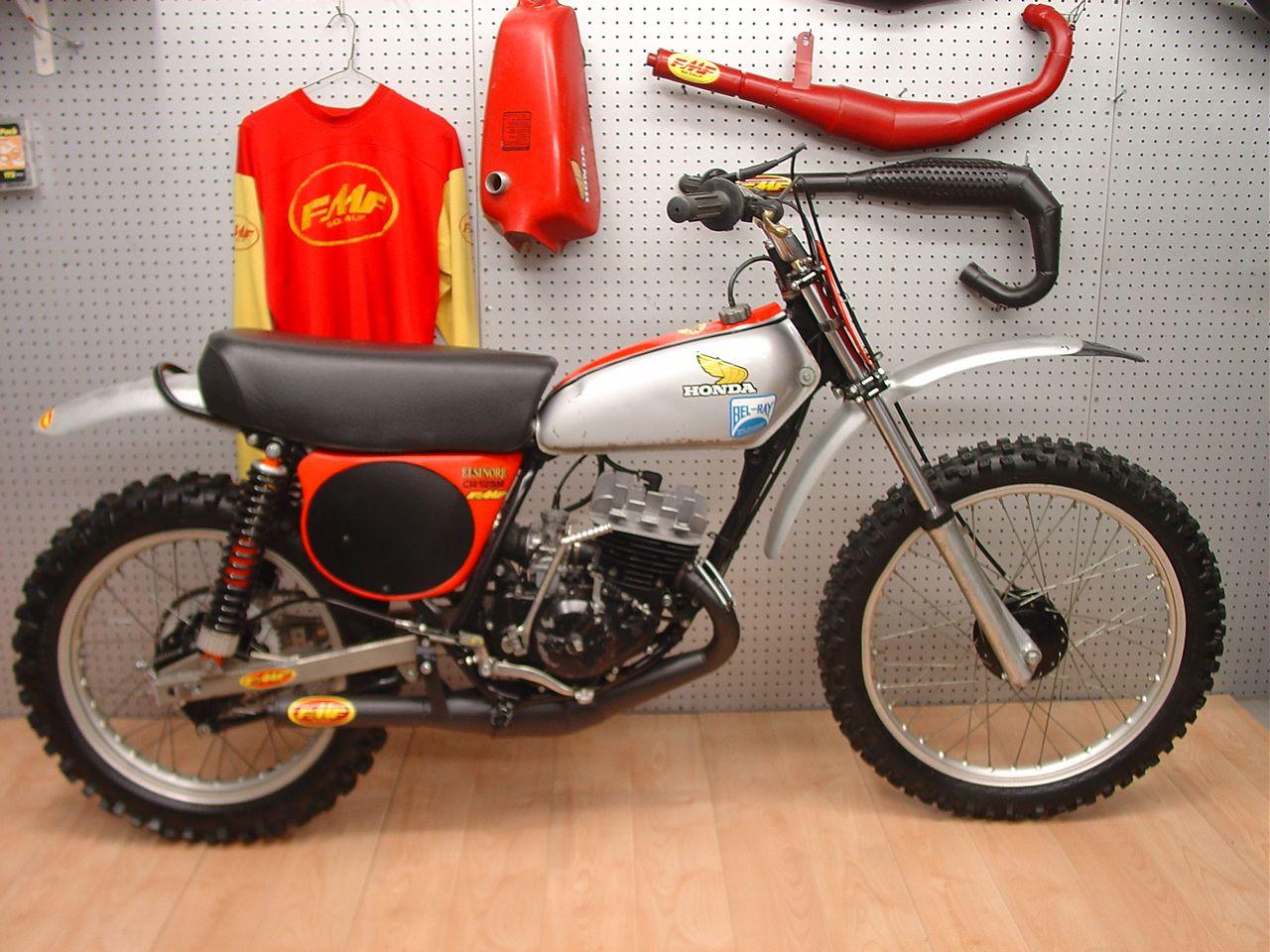 1975 Honda Cr125m Fmf Package Racer Vintage Dirt Pinterest Bike 125 Elsinore Motocross Bikes Mx