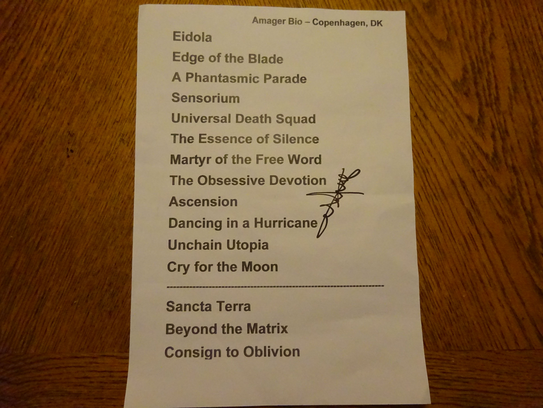 The coloring book tour setlist - Epica Setlist From Copenhagen 3 3 2017