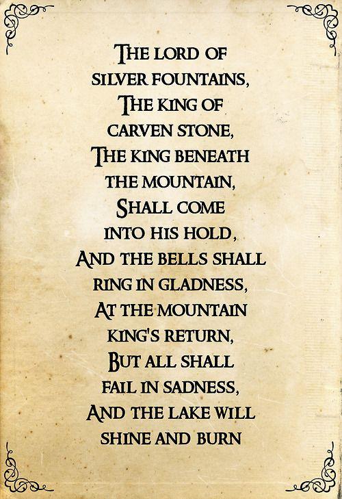 Three Rings For The Elven Kings Lyrics