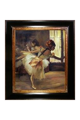 Edgar Degas Repetition of the Dance Framed Canvas Wall Art