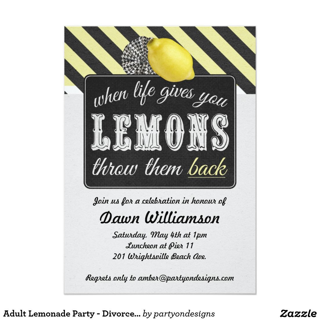Adult Lemonade Party - Divorce Party Girls Night Invitations ...