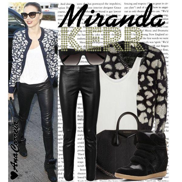 1283. Miranda Kerr, created by anacorreia on Polyvore