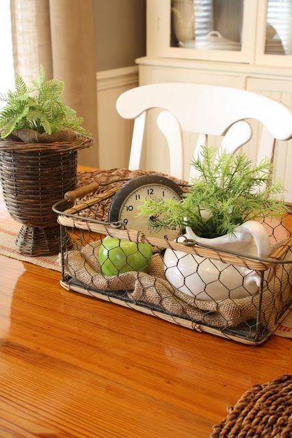 Wire Basket Decor Farmhouse Table