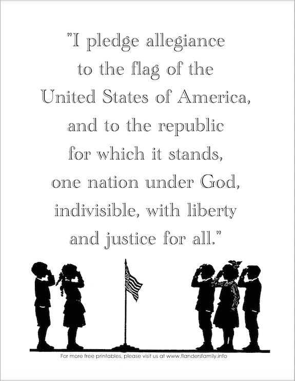graphic regarding Pledge of Allegiance Printable titled No cost printable reproduction of the US Pledge of Allegiance. Generate