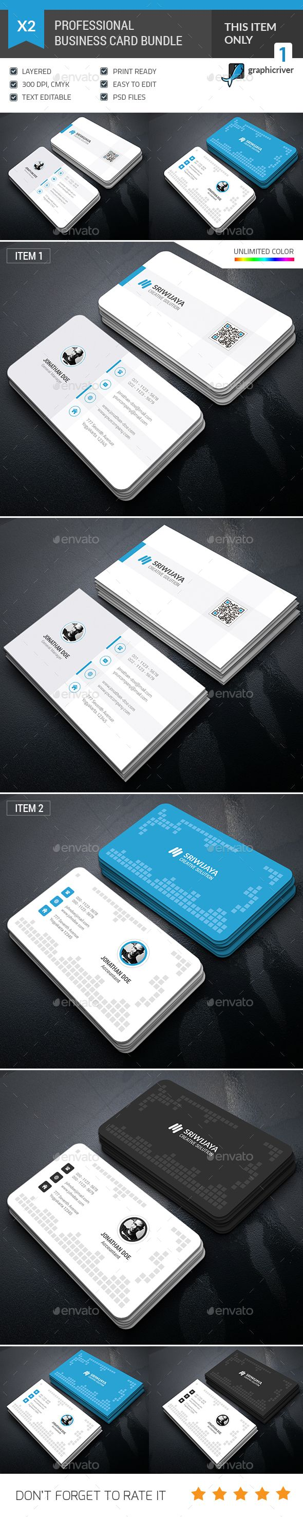 Business card bundle pinterest business cards card templates business card bundle photoshop psd light personal available here httpsgraphicriveritembusiness card bundle15780332refpxcr reheart Images