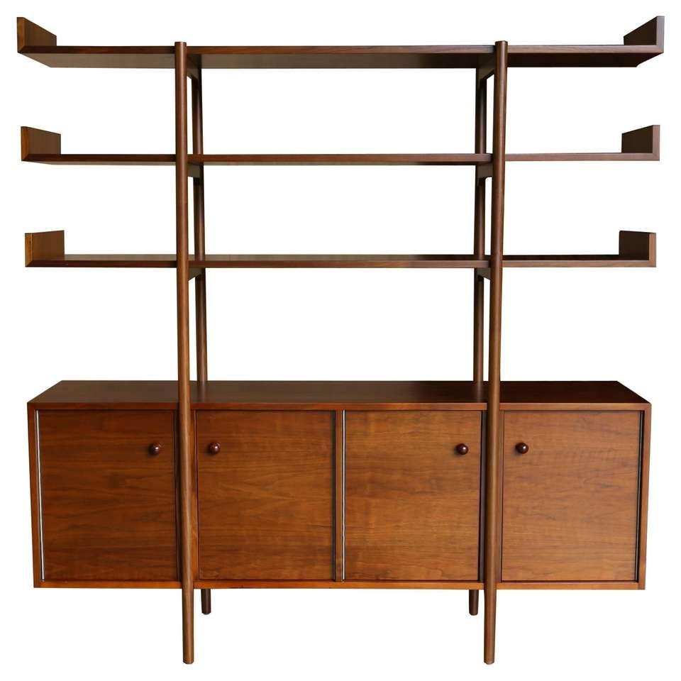 Milo Baughman Room Divider For Glenn Of California For Sale Milo Baughman Furniture Storage Cabinets