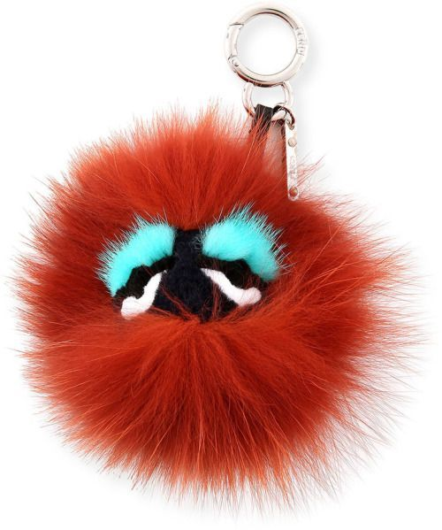 3a80cd0c0cbd Fendi Monster Mixed-Fur Mini Charm for Handbag...