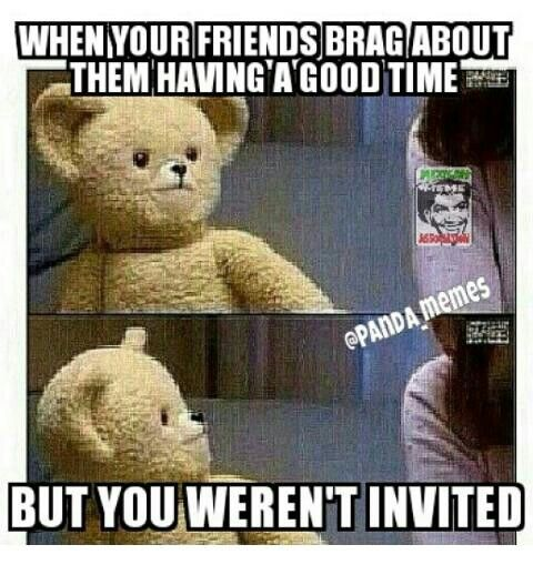 Oh You Didnt Invite Friend Lol Humor Funny Pictures Snuggle Bear Funny