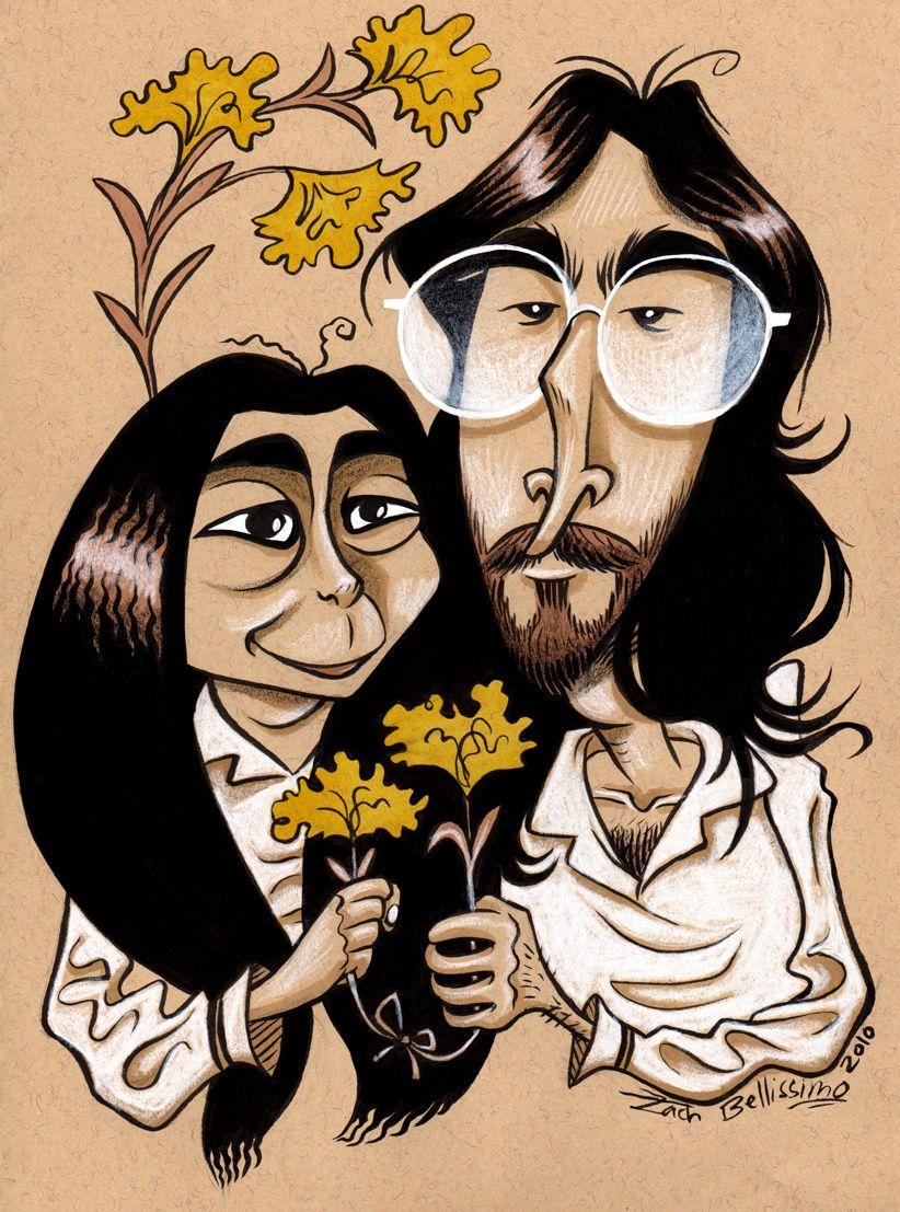 Rare Portraits of Yoko Ono in the Early 1960s, Before She ... |Sketches John Lennon And Yoko Ono