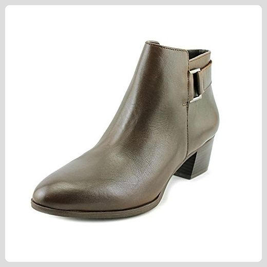 Alfani Frauen Adisonn Geschlossener Zeh Leder Fashion Stiefel Braun Groesse  8 US /39 EU -