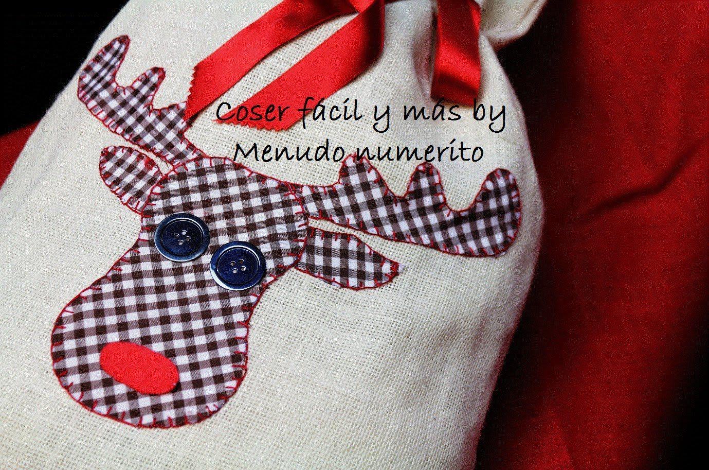 Adornos De Navidad Saco De Regalos Coser Facil Pinterest  ~ Ideas Para Regalar En Navidad Manualidades