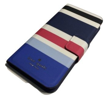 06ed6b667064e5 Kate Spade Leather Wrap Folio Case with Credit Card Slots iPhone 7 New  Waltz Stripe Kate Spade New York Leather Wrap Folio Case for iPhone Gold  Hardware, ...
