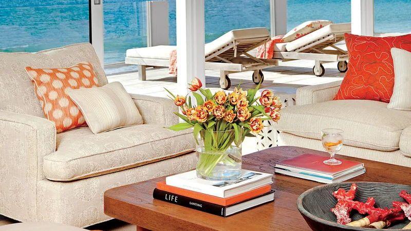48 Living Rooms with Coastal Style #coastallivingrooms