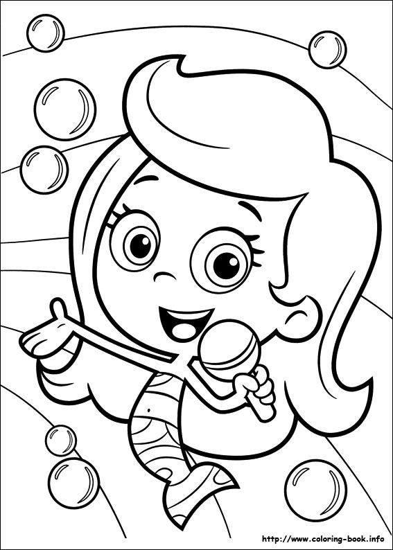 bubble guppies coloring picture coloring and activities
