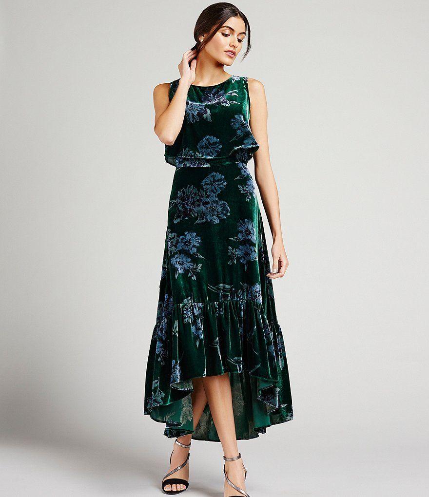 7e75ca7326b9 Eva Franco Brie Floral Velvet Midi Dress