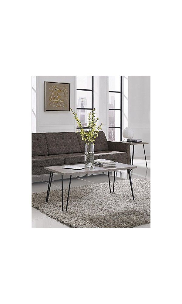 92 Altra Owen Retro Coffee Table Sonoma Oak Gunmetal Gray From