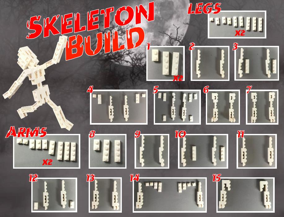 Build a LEGO® Skeleton!   LEGO Halloween Ideas   Pinterest   Lego