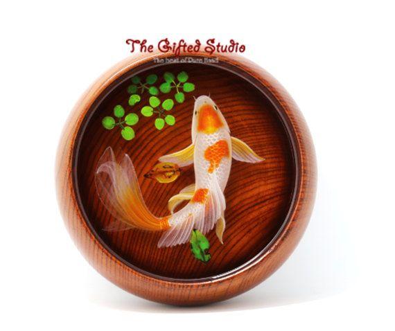 Resin Fish ArtwrokResin D Goldfish Paintings Handmade Creative - Incredible 3d goldfish drawings using resin