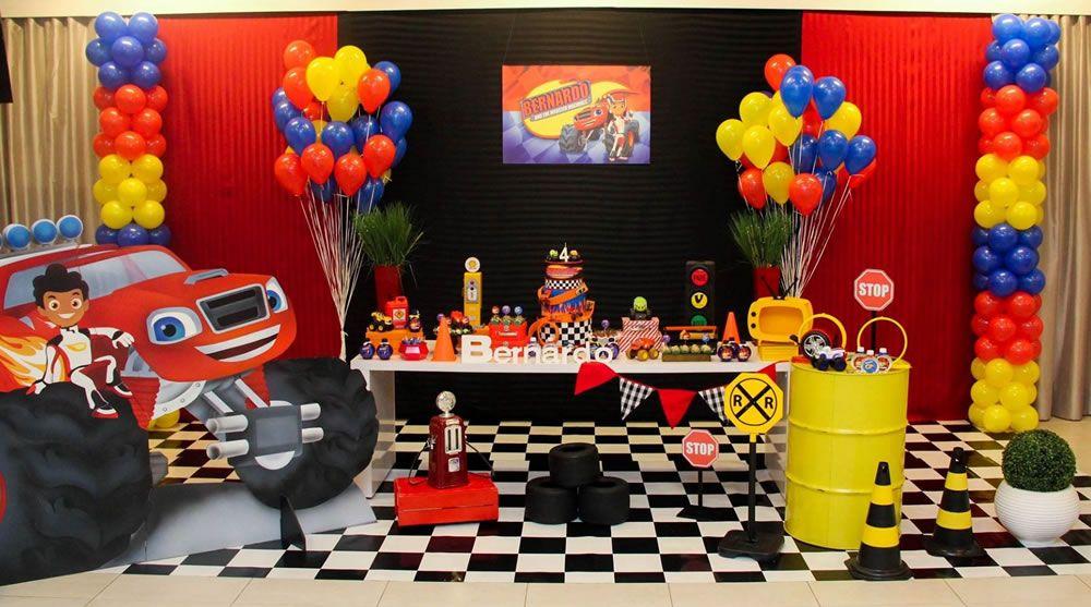 Blaze And The Monster Machine Tema Para Festa Com Imagens