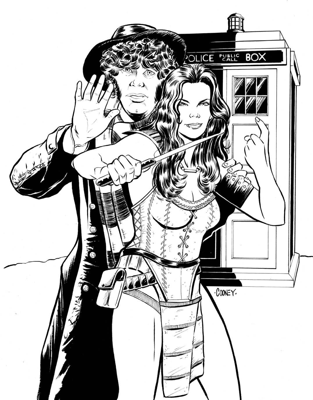 Coloring Pages BBC Doctor Who TARDIS | Doctor Who Coloring Pages ...