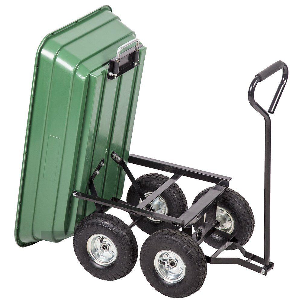 Paylesshere Heavy Duty Poly Garden Utility Yard Dump Cart Garden Cart Wheel Barrow You Can Find Out More Details At The L Dump Cart Garden Cart Wheelbarrow
