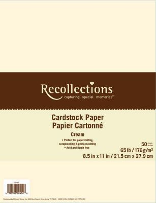 Recollections® 85 - resume on cardstock