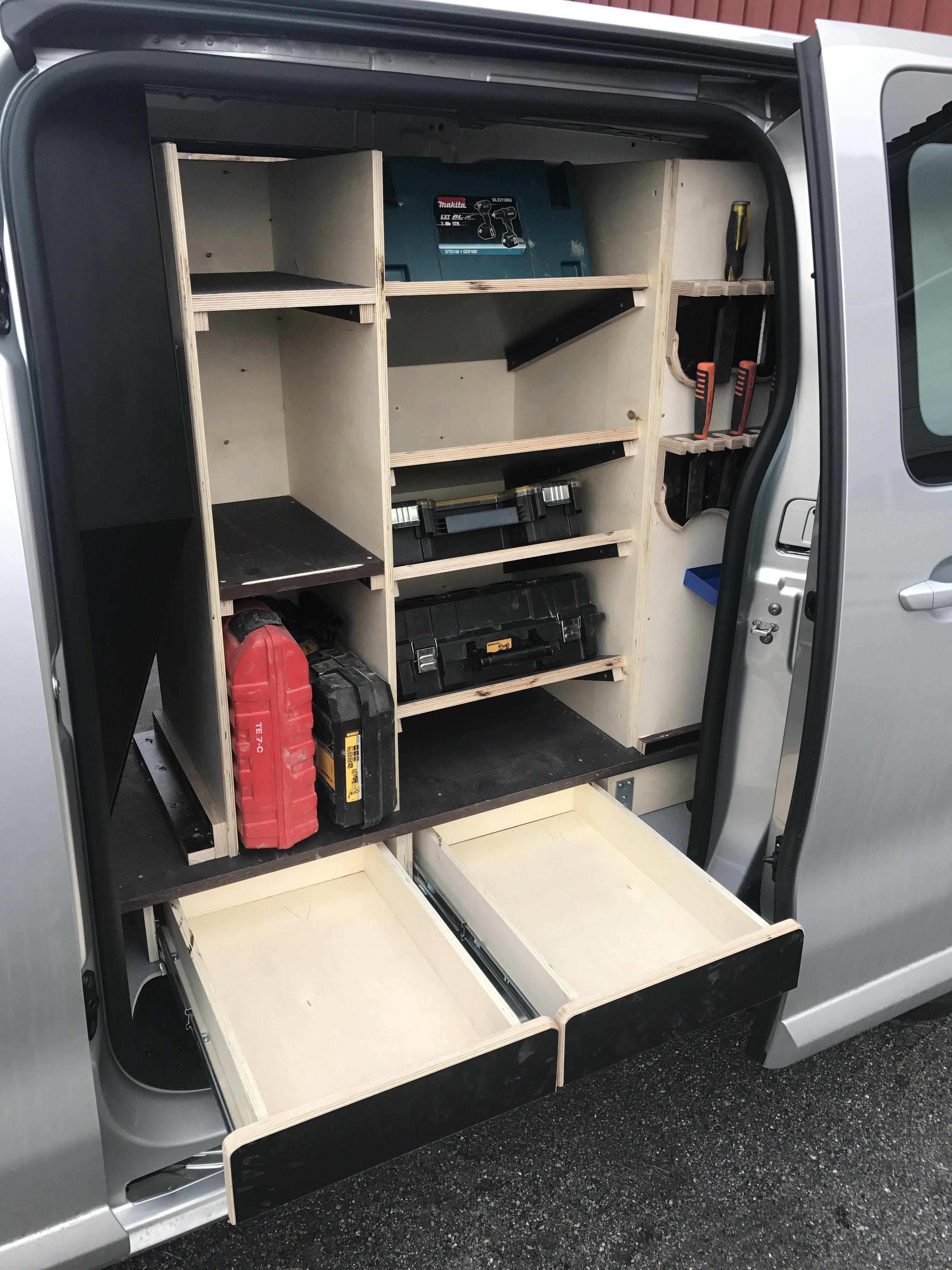 Shelf Attachment To Carcass Walls Van Storage Van Racking Van