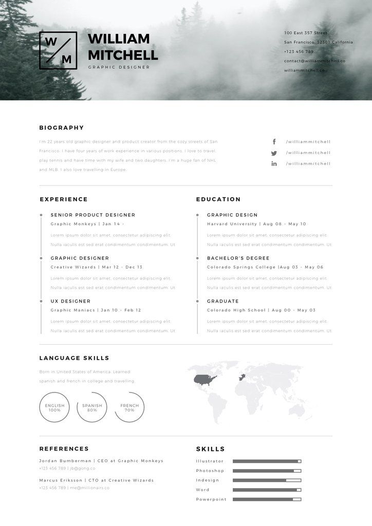 cv resume william mitchell  u2013 entretiengo modern resume template