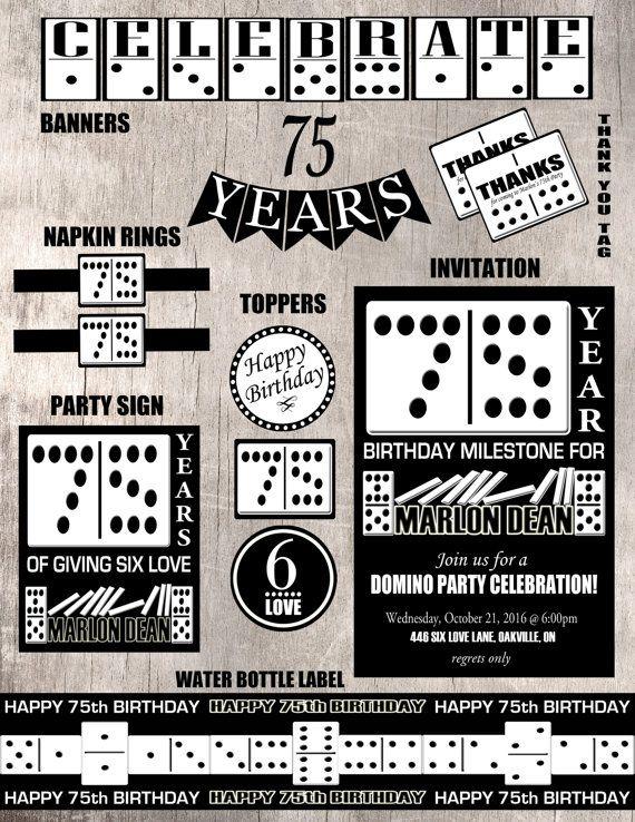Domino Birthday Party Set Printable By LemonSquaredLemons