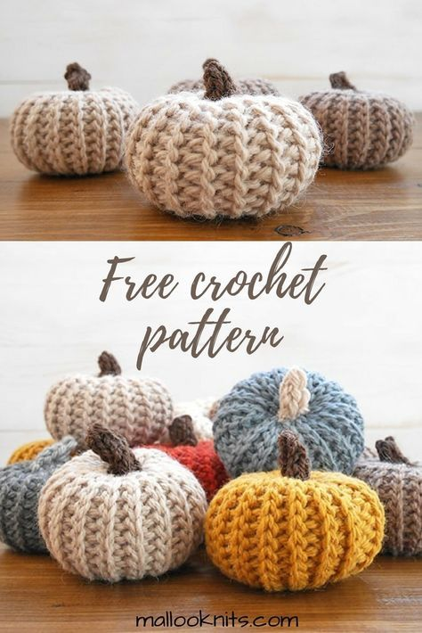 How to make adorable crochet pumpkins that look knit | Ganchillo ...