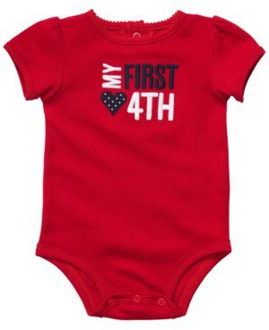 Carters Baby Bodysuit, Baby Girls My First Fourth Bodysuit