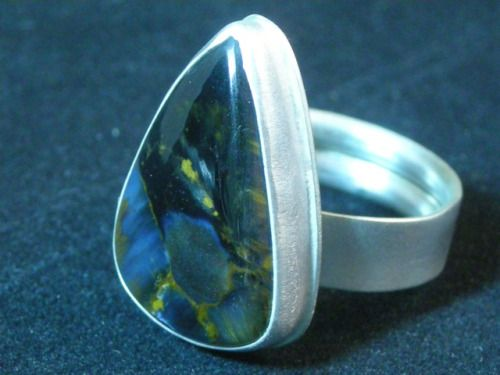 Flashy Pietersite Ring in Sterling Silver. Size 5.5 / 6.