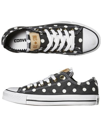 converse all star fille a pois